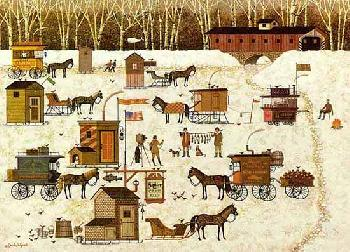 Charles Wysocki Cape Cod Cold Fish Party Artist
