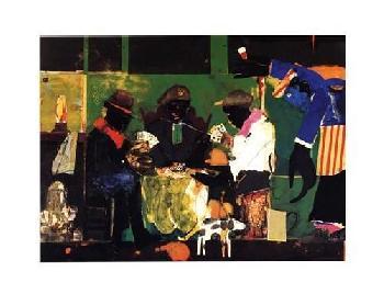 Romare Bearden Card Players, 1982 Art Block