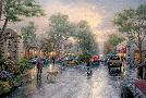 Thomas Kinkade Carmel, Sunset on Ocean Avenue