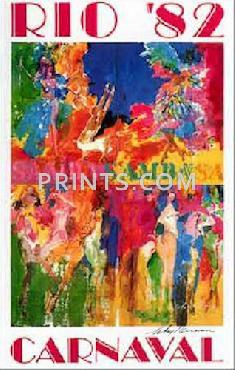 LeRoy Neiman Carnaval Hand Signed by LeRoy Neiman