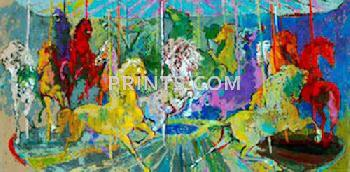 LeRoy Neiman Carousel Hand Pulled Serigraph
