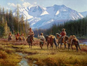 Martin Grelle Cautious Encounter Signed Open Edition on Paper
