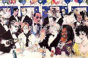 LeRoy Neiman Celebrity Night At Spago Hand Pulled Serigraph