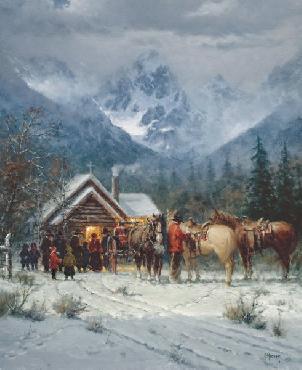 G. Harvey Chapel in the Tetons Artist