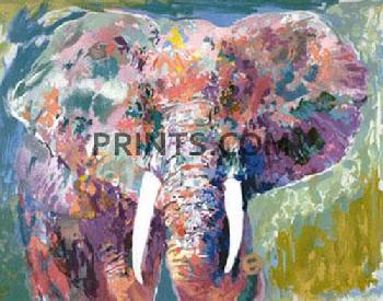 LeRoy Neiman Charging Bull Hand Pulled Serigraph