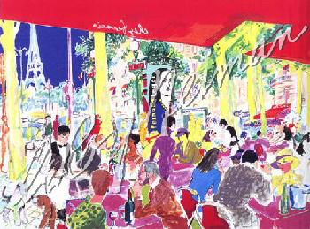 LeRoy Neiman Chez Francis Hand Pulled Serigraph