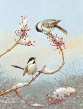 Owen Gromme Chickadees Artist