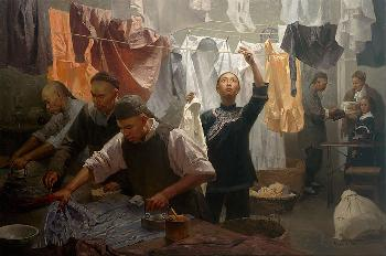 Mian Situ Chinese Laundry Giclee on Canvas