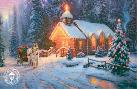 Thomas Kinkade Christmas Chapel I - O Come All Ye Faithful