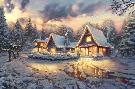 Thomas Kinkade Christmas Lodge