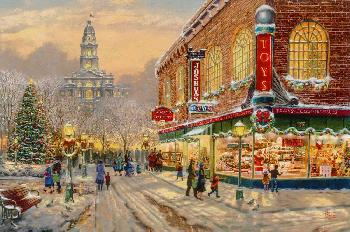 Thomas Kinkade Christmas Wish Artist