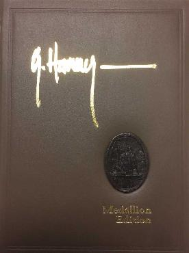 G. Harvey The City Series Medallion Leather Bound Book