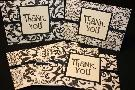 Cards by Juj Classic Black And White  -  Thank You