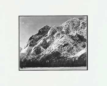Ansel Adams Cliffs of Glacier Point SM Matted