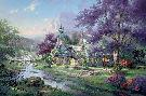 Thomas Kinkade Clocktower Cottage