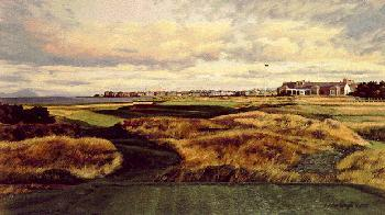 Linda Hartough 17th Hole and Clubhouse, Royal Troon - 1989