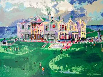 LeRoy Neiman Clubhouse at Old St. Andrews Open Edition Serigraph on Paper