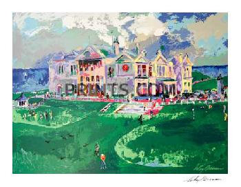 LeRoy Neiman Clubhouse at Old St. Andrews Hand Signed by LeRoy Neiman Serigraph
