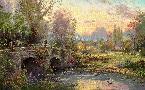 Thomas Kinkade Cobblestone Evening