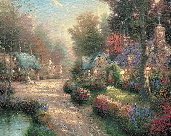 Thomas Kinkade Cobblestone Lane Artist