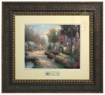 Thomas Kinkade Cobblestone Lane Prestige Home Collection Bronzed Gold Frame