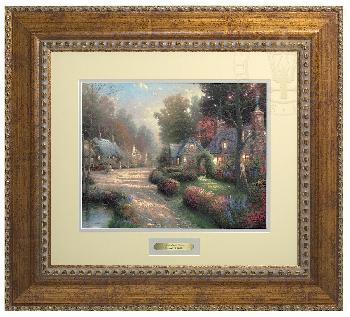 Thomas Kinkade Cobblestone Lane Prestige Home Collection Antiqued Gold Frame