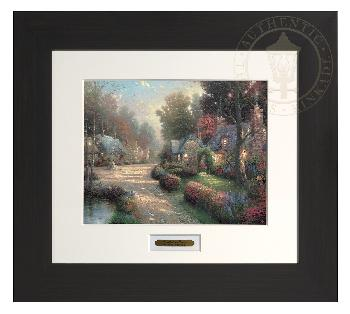 Thomas Kinkade Cobblestone Lane Modern Home Collection Espresso Frame