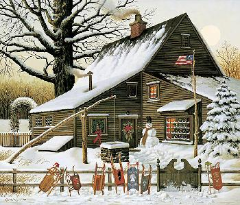 Charles Wysocki Cocoa Break at the Copperfield