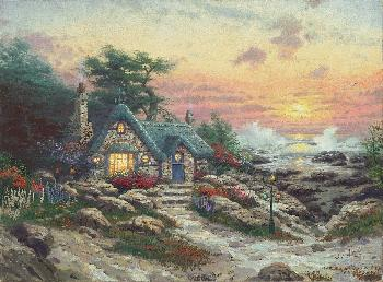 Thomas Kinkade Cottage by the Sea SN Paper