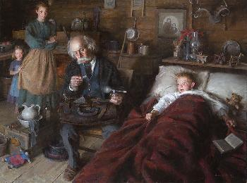 Morgan Weistling Country Doctor Giclee on Canvas