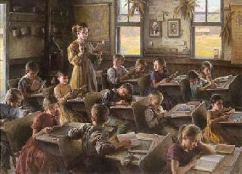 Morgan Weistling Country Schoolhouse, 1879 Giclee on Canvas