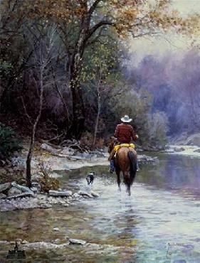 Martin Grelle Creek Bottom Search Giclee on Canvas