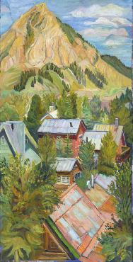 Marilyn Bauman Crested Butte Giclee on Canvas