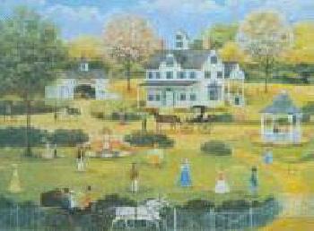 Alice Geddes Woodward Croquet on the Lawn