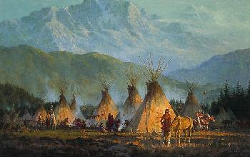 Howard Terpning Crow Camp, 1864