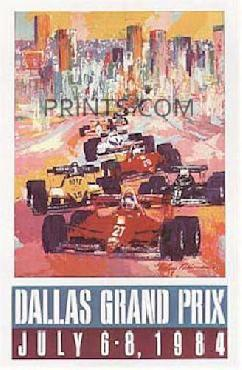 LeRoy Neiman Dallas Grand Prix Hand Signed by LeRoy Neiman