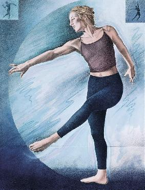 Monte Dolack Dancer Hand Drawn Lithograph w/ Hand Coloring