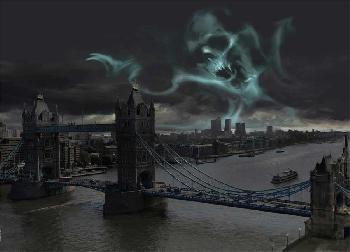 Stuart Craig Dark Mark Over London Giclee on Paper