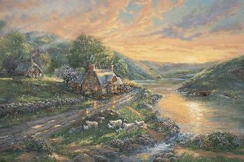 Thomas Kinkade Daybreak at Emerald Valley Artist