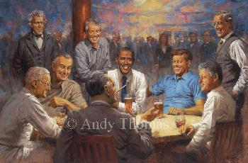 Andy Thomas Democratic Club Giclee on Canvas