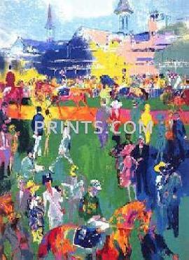 LeRoy Neiman Derby Day Paddock Hand Pulled Serigraph