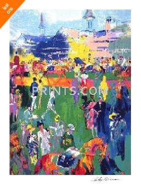 LeRoy Neiman Derby Day Paddock Hand Signed by LeRoy Neiman Last Ones!