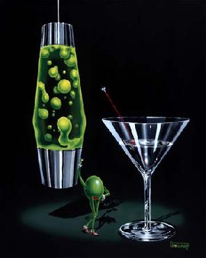 Michael Godard Devilish Martini Giclee on Canvas