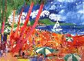 LeRoy Neiman Diamond Head - Hawaii