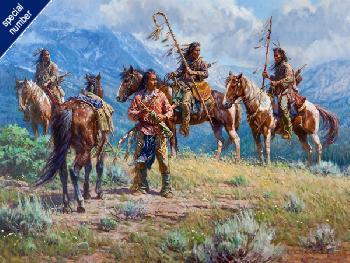 Martin Grelle Distant Signals Print #1/150 Giclee on Canvas