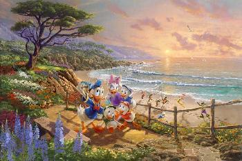 Thomas Kinkade Donald and Daisy - Duck Day Afternoon Gallery Proof on Paper