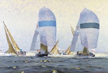 David Bareford Downwind Duel Giclee on Canvas