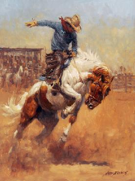 Andy Thomas Dusty Bronc Signed Open Edition Giclee on Canvas