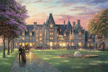 Thomas Kinkade Elegant Evening at Biltmore SN Canvas