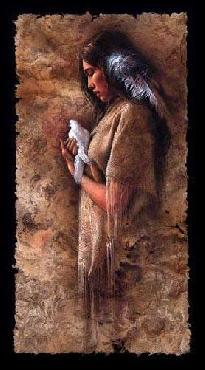 Lee Bogle Embracing Peace Giclee on Canvas